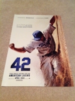 """42"" The Jackie Robinson Story Poster"